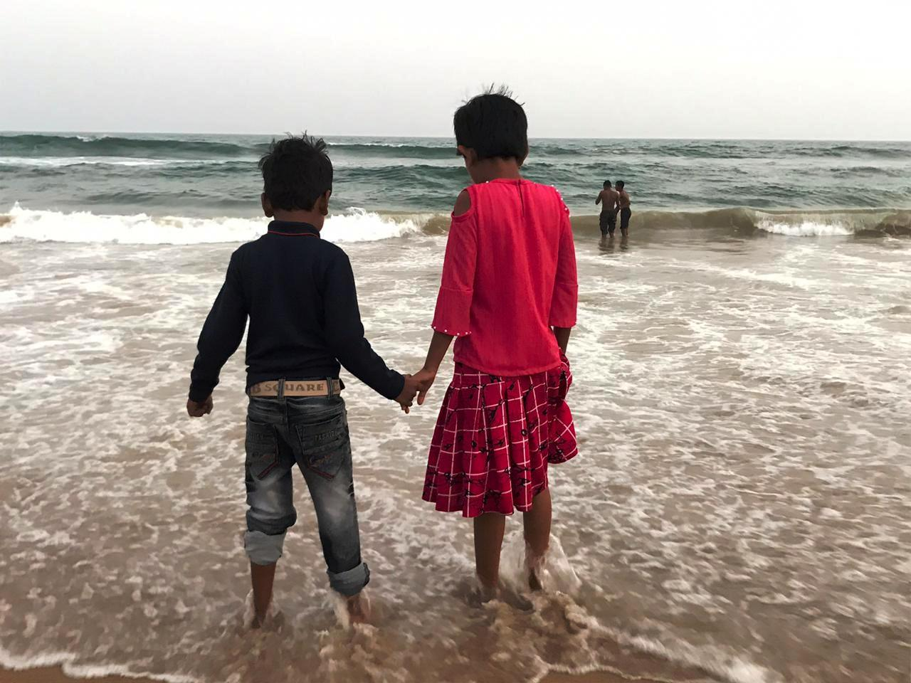 Sea Beach Puri_children